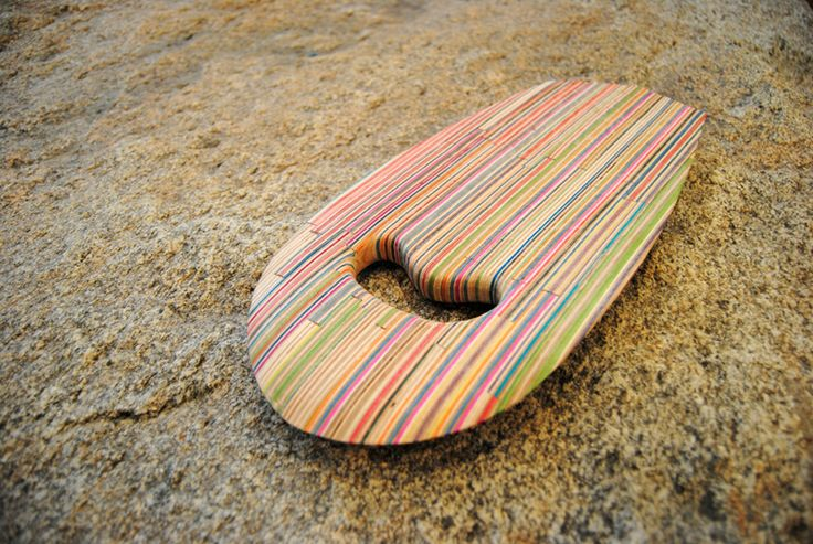 Im really digging the look of this recycled skateboard creation