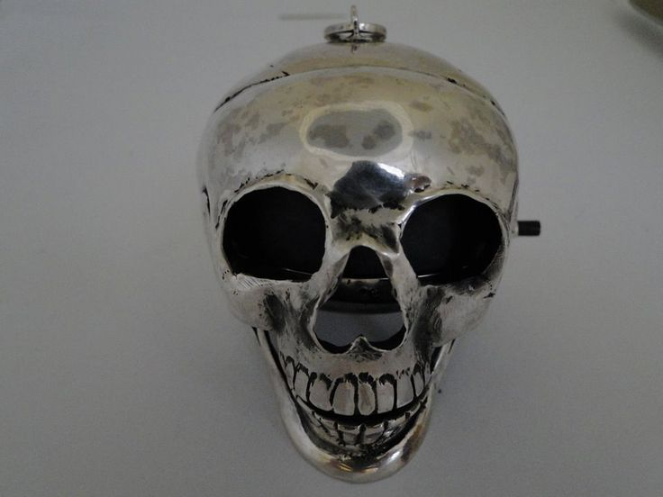Happy halloween rare early 19th century silver hallmarked quarter repeater skull pocket watch key wound with key nice by Bohemianwatchsource on Etsy