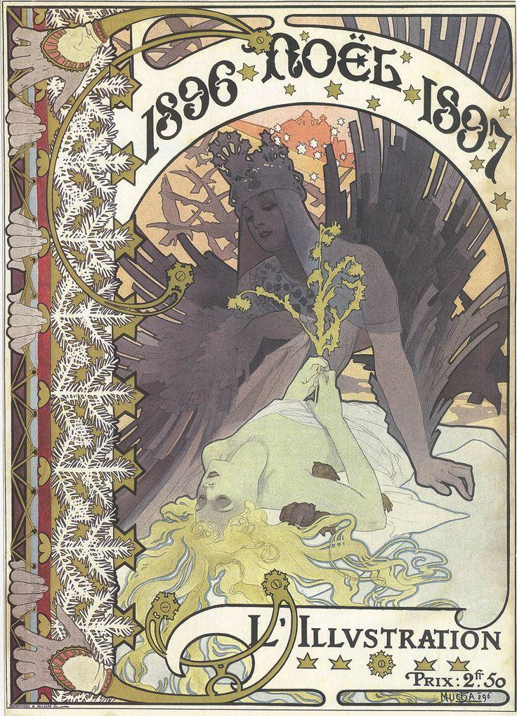 34 best art deco egyptian art nouveau images on pinterest cover lillustration dec 1896 by alphonse mucha gumiabroncs Images