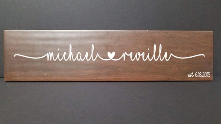 Personalized Couples Sign , Custom Wood Ceramic Tile Sign, Personalized Family Sign, Personalized Faux Wood Sign, Marriage Sign by TwoFourFoxyDesigns on Etsy