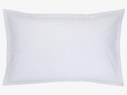 Percale rectangular pillowcase habitat gbp10