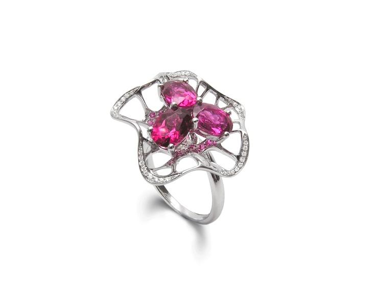 Allure tourmaline ring by Fei Liu