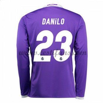 Real Madrid Fotbalové Dresy 2016-17 Danilo 23 Venkovní Dres Dlouhým Rukávem