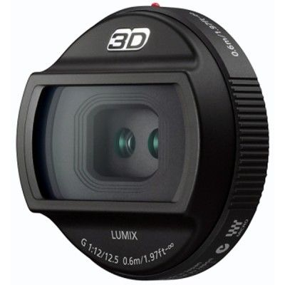 12.5mm / F12 interchangeable 3D lens for Lumix G.  #digital #interchangeable #lens #panasonic