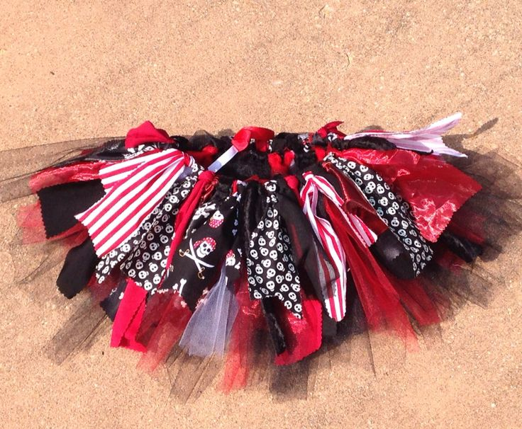 Pirate costume - Pirate Princess extra full Tutu - cruise clothes, double layer pirate Tutu, shabby chic fabric and tulle tutu skirt by LilNicks on Etsy https://www.etsy.com/listing/200554230/pirate-costume-pirate-princess-extra