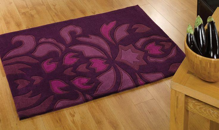 Tappeto viola con disegno tone sur tone