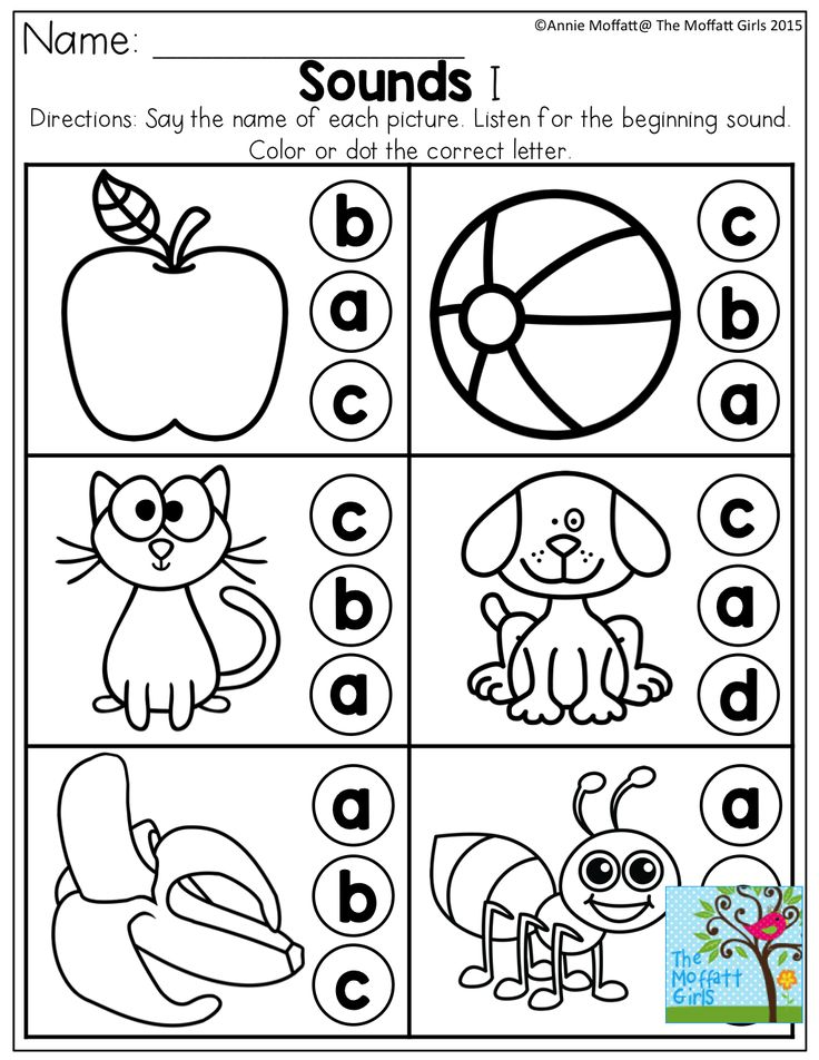 Beginning Sounds and much for for Pre-K to 3rd Grade!