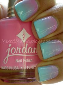 MixedMama: Cotton Candy Gradient Nails