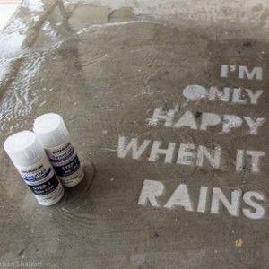 NeverWet Graffiti: Invisible-Ink Street Art Shows Up in Rain | Urbanist