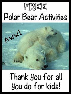 Promoting Success: Free Polar Bear Teaching Resources #winter #teacherspayteachers