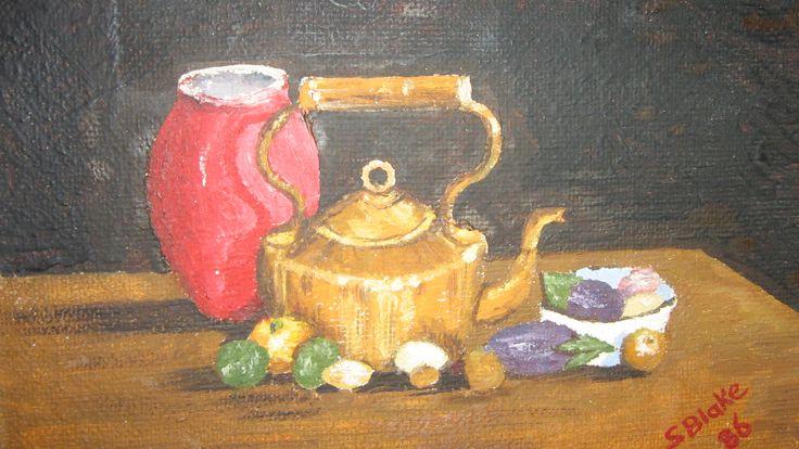 Sarah's first painting