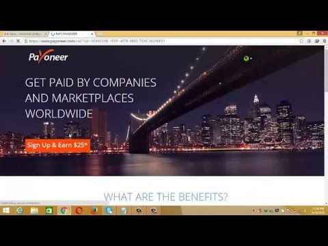 Tutorial Of How To Create A Free Payoneer Mastercard Step By Step