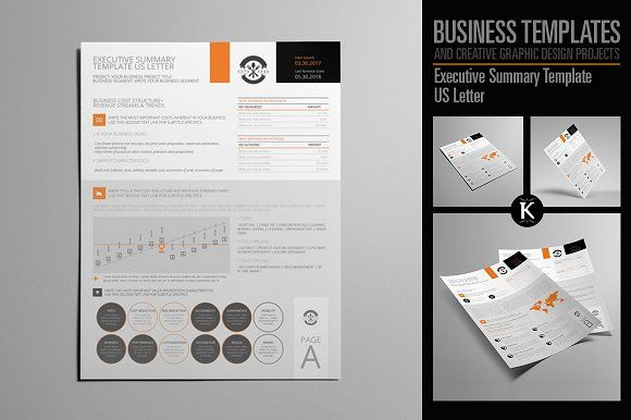 Executive Summary Template US Letter by Keboto on @creativemarket