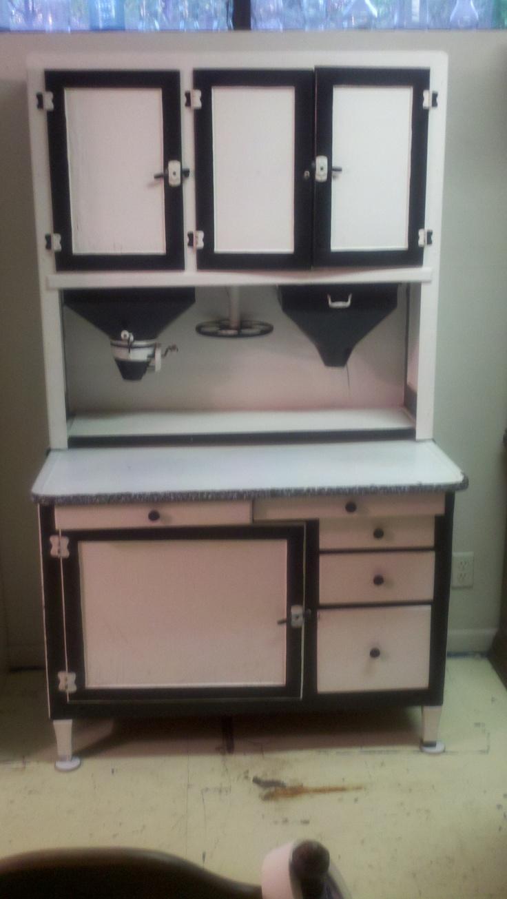 467 best hoosier cabinets images on pinterest pie safe - Sideboard lila ...