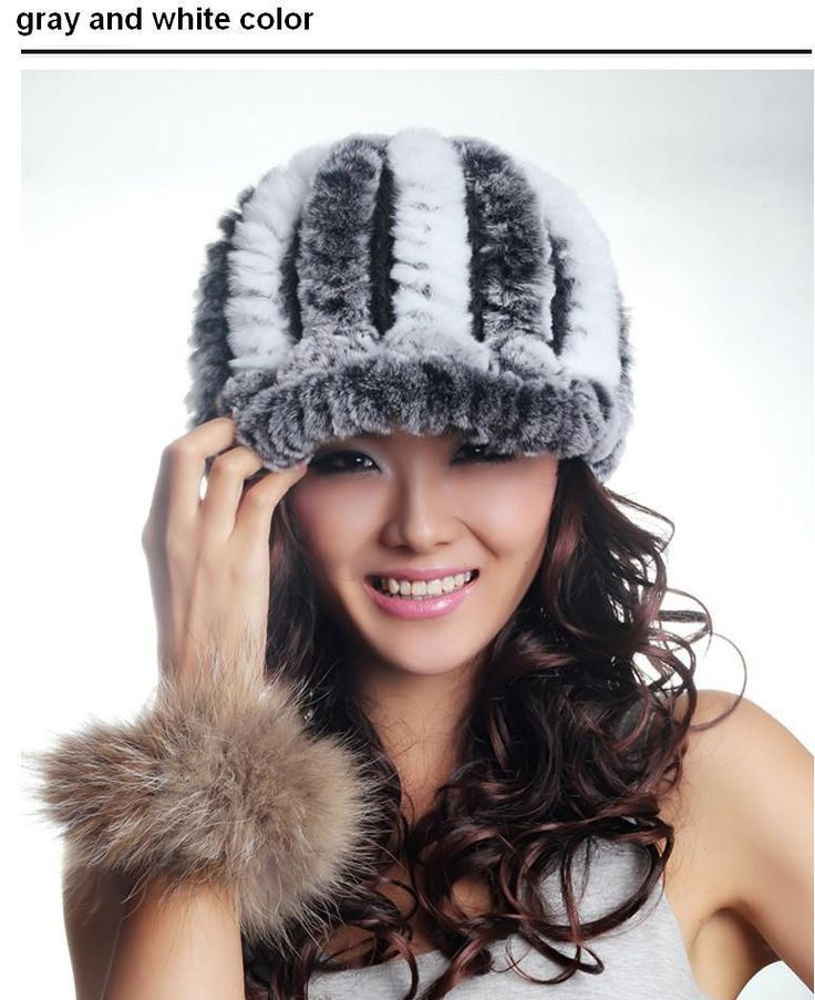 H58- Natural  fur  ladies fashion luxury new style autumn cap ,red gray white black winter rex rabbit fur hat