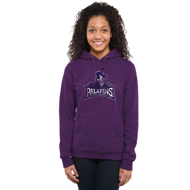 Furman Paladins Women's Classic Primary Pullover Hoodie - Purple - $44.99
