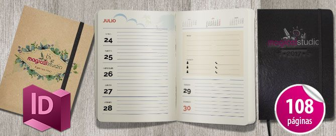 Plantilla Editable Calendario Agenda Diaria 2017                                                                                                                                                                                 Más