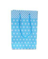 Mavi Puanlı Karton Çanta (Büyük)