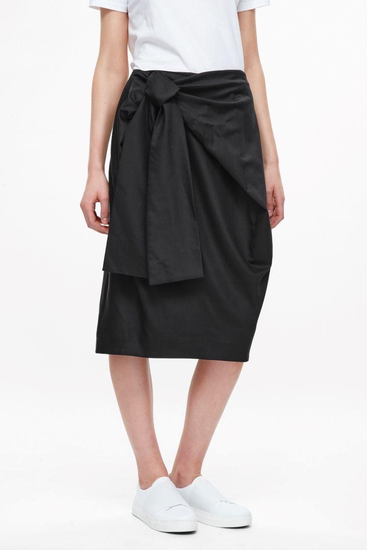 COS | Skirt with tie belt