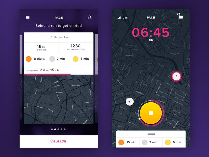 Running App - PACE by jakob for Pandi Web