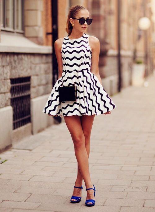 Stylish dress.