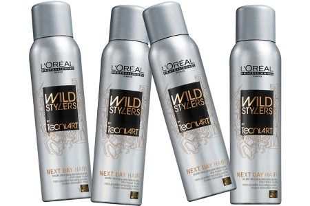"""L'Oreal Professionel Wild Stylers Next Day Hair - super-fine texturizing powder spray, Wild Stylers Next Day Hair contains a """"non-ionic setting polymer"""" that doesn't build up, so your style won't ever look lank."""