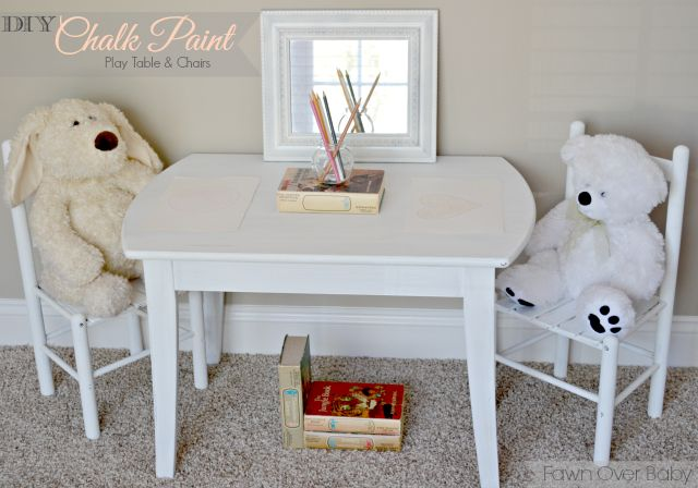 Fawn Over Baby: DIY Chalk Paint Recipe: Toddler Play Table For Two