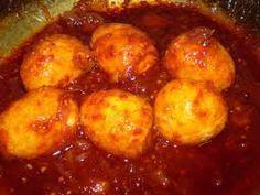 Indonesian Food. Sambal Goreng Telor (Recipe in Dutch)