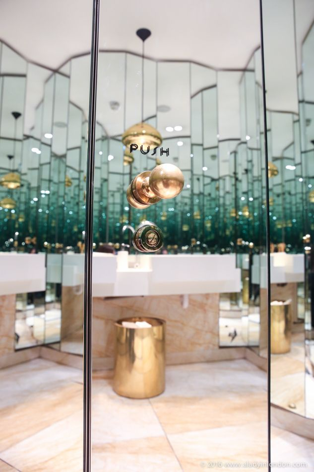 The 9 best loos in London! The loo at Nopi restaurant in London's Soho is full of mirrors, making it complicated to find the way in and out!