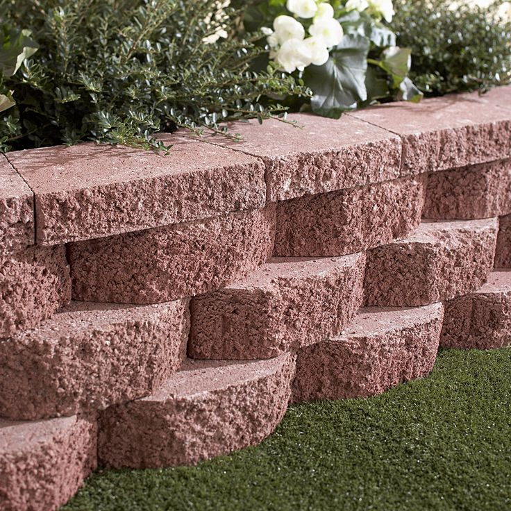 Shop Red Basic Retaining Wall Block (Common: 12-in X 4-in