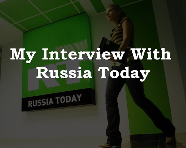 My #Interview With #Russia Today , an International News Channel  #RussiaToday #Hacking #ComputerSecurity