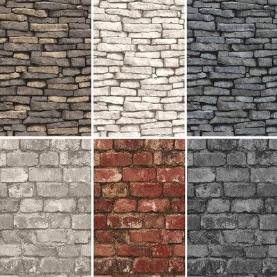 NEW LUXURY DISTINCTIVE BRICK WALL STONE ROCK SLATE EFFECT 10M WALLPAPER ROLL | eBay