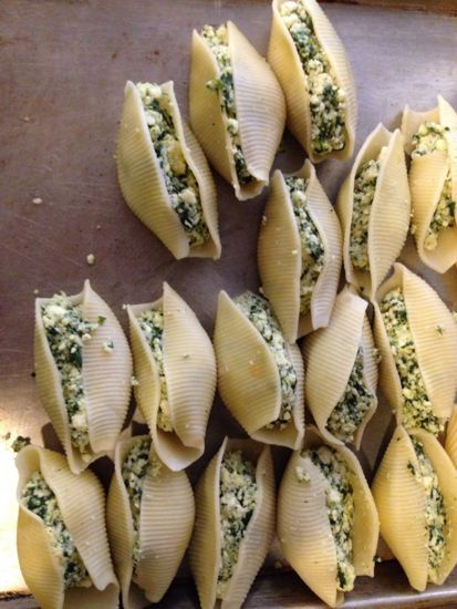 ricotta & spinach stuffed shells and my dairy godmother