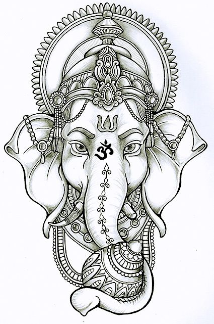 ganesha lotus drawing - Google Search