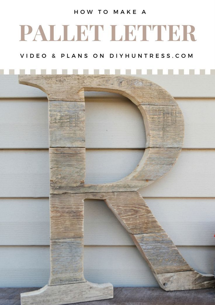 DIY Woodworking Ideas How to make a letter out of pallet wood! Video tutorial and step-by-step instruc...