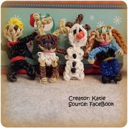 Rainbow loom characters from the movie Frozen