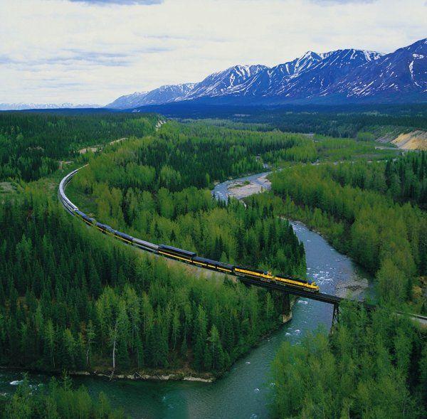 Take a train through Yukon Territory, Alaska #HipmunkBL