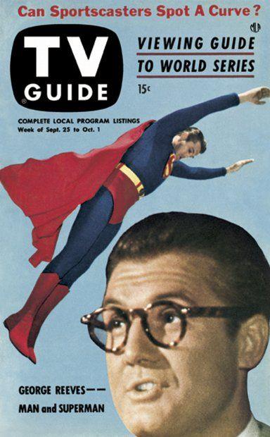 TV Guide September 25, 1953 - George Reeves as Superman.