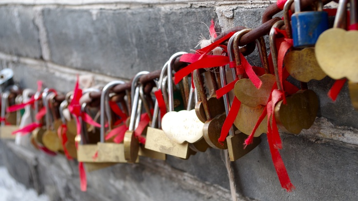 """Locks of Love."" Great Wall of China Badaling. Photo by Kayla Hedman."