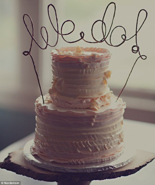 """because some day I am going to have to plan 3 weddings  A LONG TIME FROM NOW ... """"we do"""" cake topper"""
