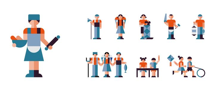 A selection of various icons and editorial pictograms created during 2015