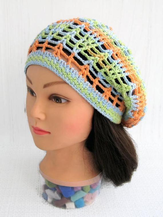 premium selection cheap for sale sale uk Crocheted summer beanie hats Woman summer beanie hat cotton ...