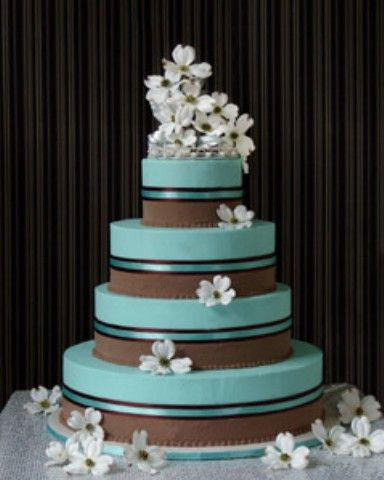 tiffany blue and gold wedding cake blue wedding cakes blue gold ivory 20992