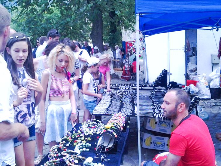 Bazaar at the annual medieval festival in Sighisoara.