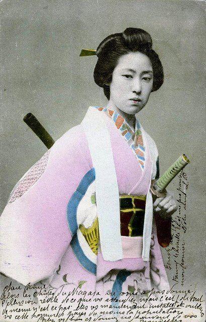 'BADASS 19th century FEMALE SAMURAI' (ONNA BUGEISHA)