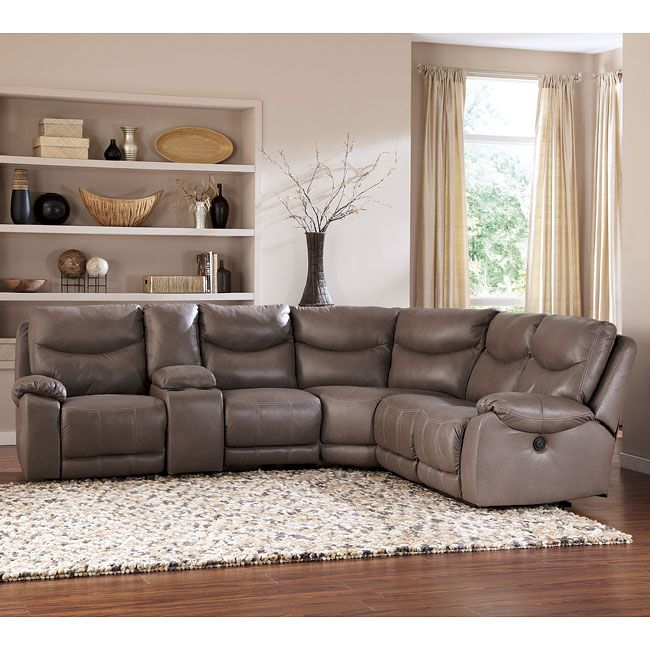 Living Room Sofa With Storage: Pegram Pebble Modular Sectional W/ Console