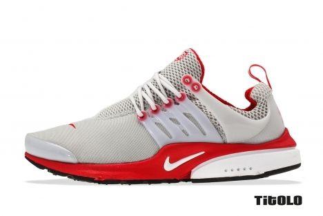 Nike Air Presto Neutral Grey/University Red-white
