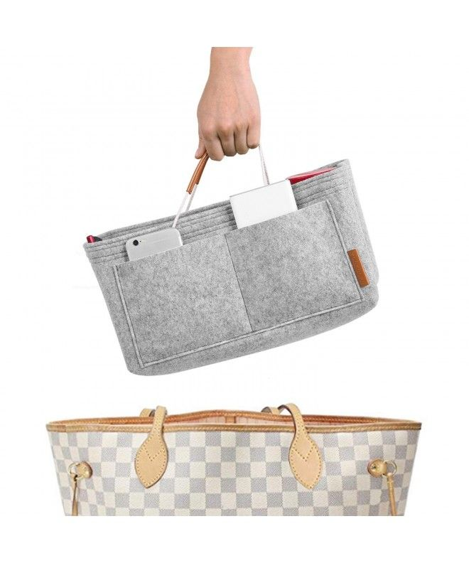 Felt Purse Insert Handbag Organizer Bag in Bag Organizer with Handles - 1  Grey - C1186W689MS | Felt purse, Handbag organization, Handbag