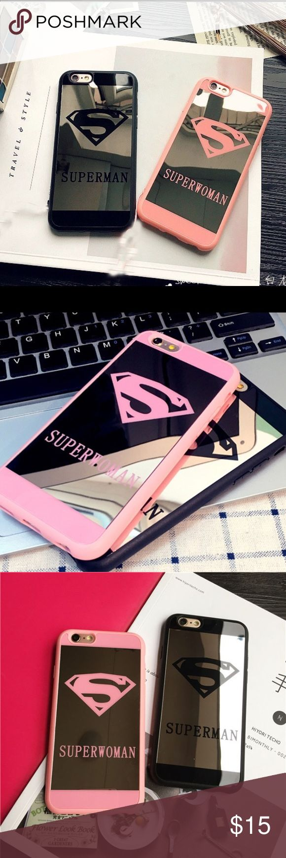 Pink iPhone 6 & black iPhone 7 case Brand new very protective! Accessories Phone Cases
