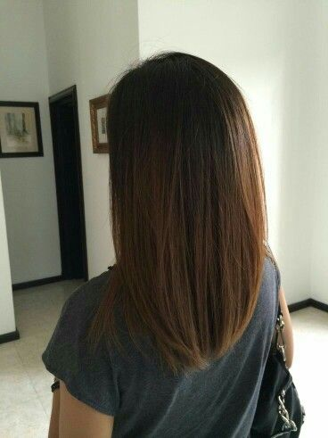 medium length straight hair